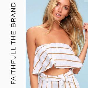 Faithfull the Brand Tops - 🆕 Faithfull The Brand Striped Crop Top